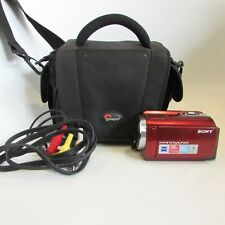 Sony HandyCam DCR-SR68 60 x Zoom 80 GB Camcorder -  Red + Case