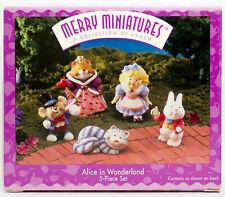 1996 Merry Miniatures Hallmark Alice in Wonderland Collectible 5 Pc Box Set
