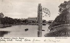 Postcard Lincolnshire  Boston St Botolph's church  posted  posted