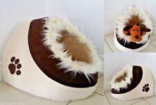 Deluxe Suave Lavable Perro Gato Mascota Cálido Cesto Cama Cojín con Forro Polar