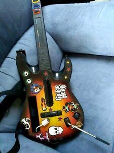 Nintendo Wii Guitar Hero Red Octane Starburst Guitar With Strap + STICKERS