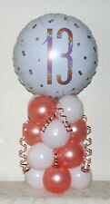 13TH BIRTHDAY - ROSE GOLD - FOIL PARTY BALLOON DISPLAY - TABLE DECORATION KIT
