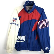 Vtg New York Giants Jacket Mens Large NFL Pullover 90's Proline Spellout