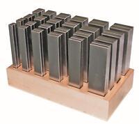 Parallelunterlagen 24 Paar Länge 125 mm - fein geschliffen DIN2768m
