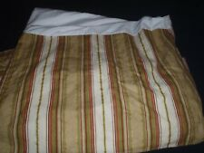 Croscill Gold Green Red Striped King Bed Skirt
