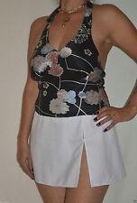 Waist Length Silk Halterneck Sleeve Tops & Shirts for Women