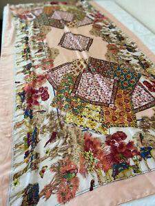 Large Exotic Silk Scarf 177cms x 89cms...