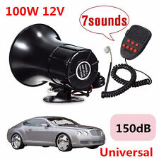 12V 100W 150DB 7Sound Loud Car Pickup Warning Alarm Siren Horn PA Speaker System
