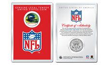 DENVER BRONCOS NFL Helmet JFK Half Dollar U.S. Coin w/ NFL Display Case LICENSED