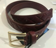 Women's Armani oxblood quilted Leather Belt  Rrp £280