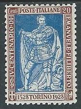1928 REGNO FILIBERTO VITTORIA 20 CENT D. 11 MH * - Y012