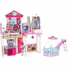 Barbie Home Set House 3 Dolls with Furniture and Pool