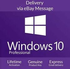Microsoft Windows 10 Pro Professional 32/64bit Genuine License Key Instant