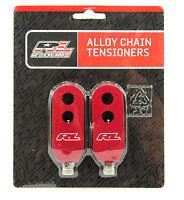 "Redline BMX Chain Tensioners Pair Red 3/8"""