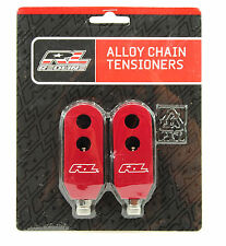 Redline BMX Chain Tensioners Pair Red 3/8""
