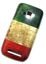 CUSTODIA COVER NOKIA LUMIA 610 BANDIERA FLAG ITALIA VINTAGE case bumper  Italy