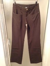 ATHLETA Canyon Pants Heather Brown Soft Stretch Wool Blend size 4 Tall Retail 98