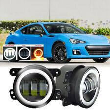 Fit Subaru BRZ 13-16 Pair Bumper Fog Light Lamp 30w Halo Replacement 4 inch