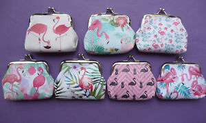 FLAMINGO Girls Childrens Coin Hasp Purse 7 designs party bag filler Cute NEW