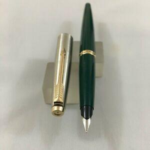 Parker 45 Steel Dark Green Gold trim FP Steel Fine nib Brand NEW USA