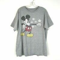 Disney Mens Mickey Mouse Gray Short Sleeve T Shirt Size Large