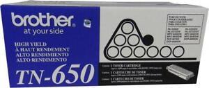 New Genuine Factory Sealed Brother TN-650 Toner Cartridge TN650