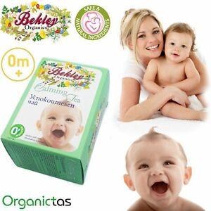 BABY 0m CALMING TEA, natural herbal tea, calm & better sleep, colic ease, safe