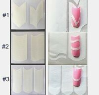 French Manicure Tips Stencil Sticker Guide Sheets Tips Decorations Nail Art DIY