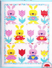 Clearance - Bunny Love Quilt - fun pieced quilt PATTERN - Red Brolly
