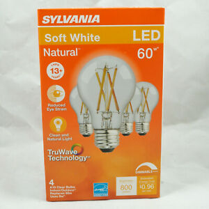 SYLVANIA LED TruWave Natural Series Light Bulb, 60W A19, Dimmable, Soft White