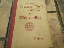 LEGENDES ET CONTES DU MOYEN AGE AUBERT EO 1941 classe 6em et 5em bon état.