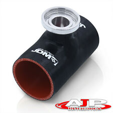 """3"""" Ssqv Sqv Silicone Jdm Style Turbo Bov Blow Off Valve Adapter Bk/Rd For Nissan"""