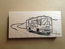 Mounted Rubber Stamps, Motor Home, Travel, Stamping, Camper, Vacation, Camping