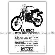 PUB CAN-AM 250 & 370 MX5 MX-5 Qualifier - Publicité Moto de 1978