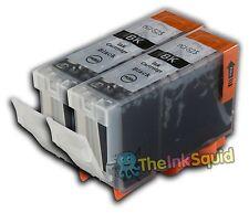 2 PGI-525BK Black Ink Cartridges for Canon Pixma iX6550
