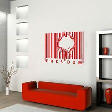 BARCODE FREEDOM  Patriotic Big or Small Wall / Car Decal Sticker