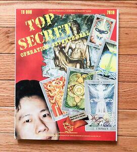 Top Secret - 'Operation Seventh Seal' Module - Espionage Game - TSR TS008 RPG