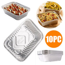 10x Outdoor BBQ Aluminum Foil Grease Drip Pans Recyclable Grill Catch Tray Weber