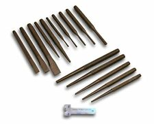 """LOOK""16 PIECE PUNCH AND CHISEL SET TAPERED PARALLEL CENTRE PIN BRAKE GAUGE  E"