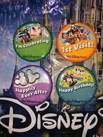Walt Disney World Four Pin Set Happy Birthday First Time Happily Ever After