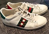 GUCCI ACE sneakers women Size 40 Paris Spikes Gang White Exclusive Retail $700