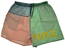 Vtg Nike Shorts L XL Colorblock 80s 90s Spellout Gym Running Jogging Swim Trunks