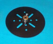 MECCANO  roue 133 dents, No 27b noire brillante repeinte