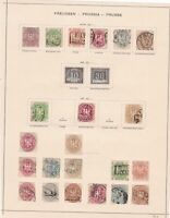 prussia early stamps collection on album page huge cat value ref r8977