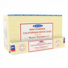 Satya Nag Champa Californian White Sage Incense Sticks Agarbatti [Full Case] NEW