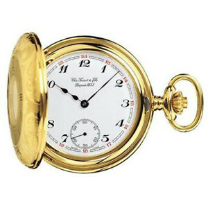 Tissot Swiss Made T-Pocket Savonnette Gold Plated Hunter Case Pocket Watch