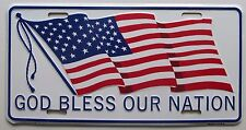 1990's GOD BLESS OUR NATION USA FLAG BOOSTER License Plate