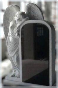 Grabstein,Granit Grabstein mit stehendem Engel D, 65x18x90cm,China Black, NEU!!