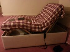 NEW  3FT SINGLE ELECTRIC ADJUST BED & CHAIR WITH MEMORY FOAM MATTRESS & HDBOARD