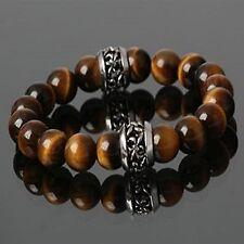 GUNTWO Korean Fashion Bracelets - Biker Hip Hop Brown Bangle Bracelet B5274 UK